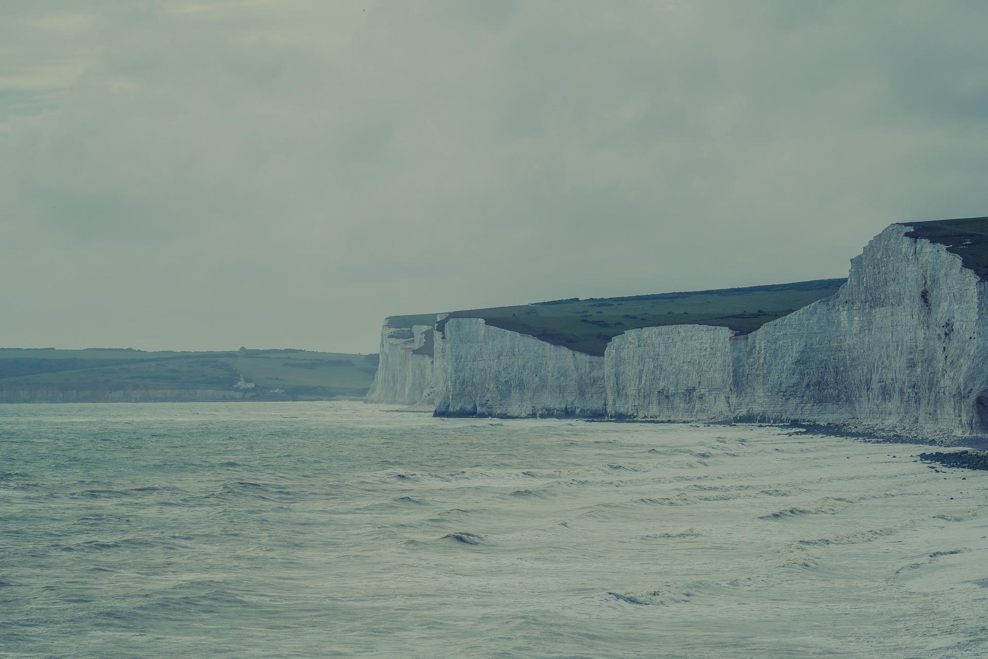 Die Seven Sisters an der Küste von England